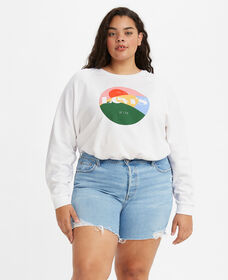 Vintage Raglan Crewneck Sweatshirt (Plus Size)