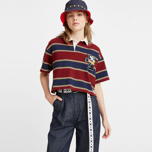 Levi's® x Felix the Cat™ Cropped Rugby Shirt