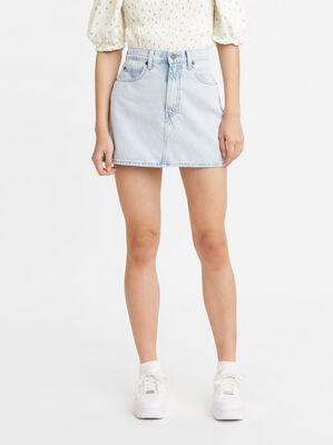 70s High Micro Mini Denim Skirt