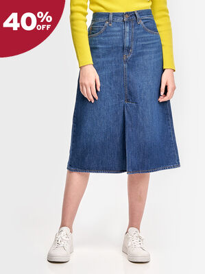 Midi A-Line Skirt