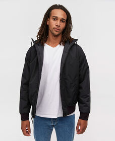 Hooded Sherpa Bomber Jacket