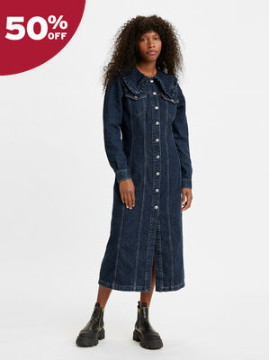 Levi's® x GANNI Collared Long Dress