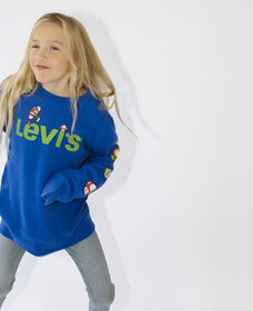 Big Boys Levi's® X Super Mario™ Crewneck Sweatshirt