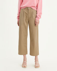 Pleated Wide Leg Chino