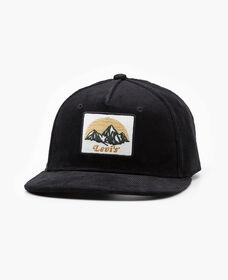Corduroy Logo Patch Flat Brim Hat