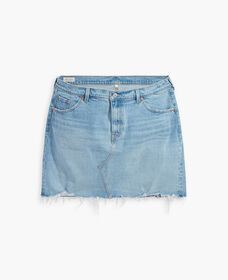 Deconstructed Denim Skirt (Plus Size)