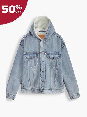 Hooded Sherpa Trucker Jacket