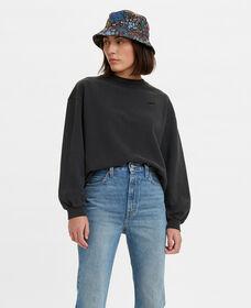 Melrose Garment-Dye Slouchy Crewneck Sweatshirt